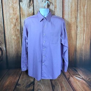 Lauren Ralph Lauren Cotton Lavender Button Shirt